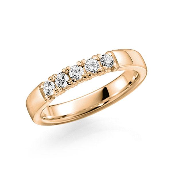 Memoire-Ring Roségold 585 mit 0,25 ct. tw, vs