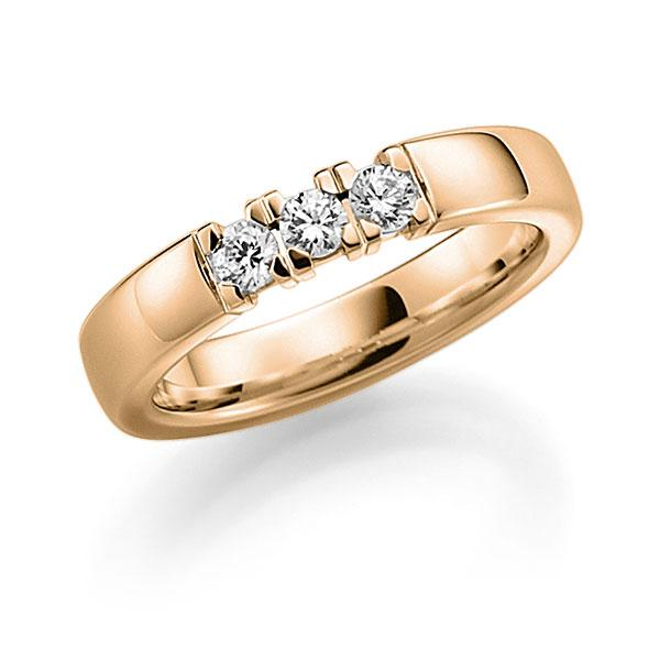 Memoire-Ring Roségold 585 mit 0,27 ct. tw, vs