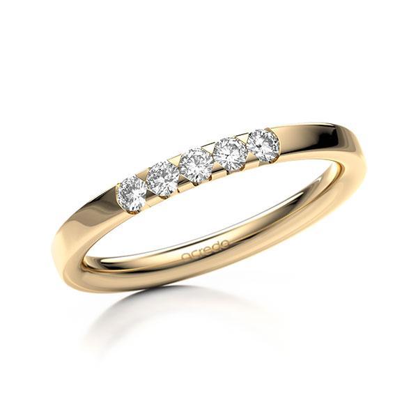 Memoire-Ring Roségold 585 mit 0,2 ct. tw, si