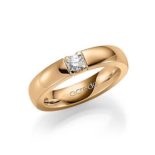 Memoire-Ring Roségold 585 mit 0,2 ct. tw, vs