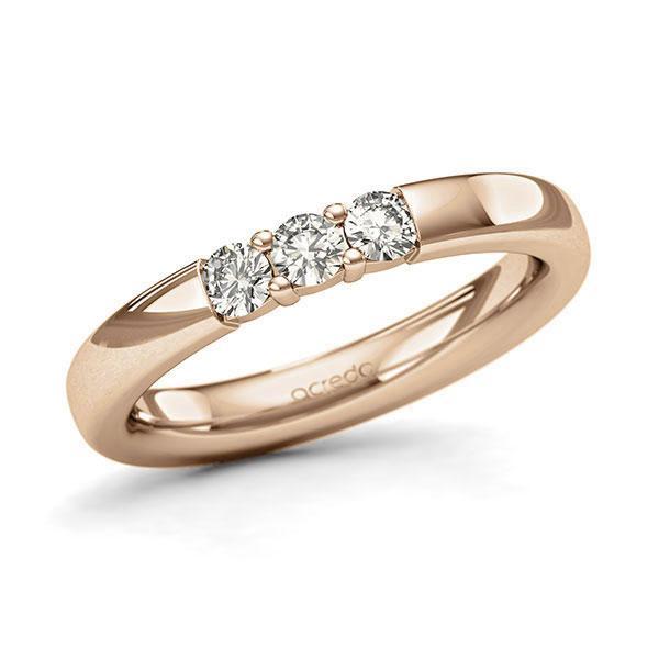 Memoire-Ring Roségold 585 mit 0,3 ct. tw, si