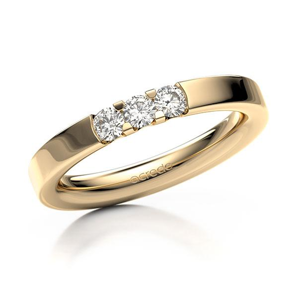 Memoire-Ring Roségold 585 mit 0,3 ct. tw, vs