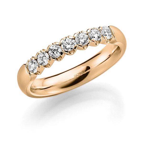 Memoire-Ring Roségold 585 mit 0,42 ct. tw, vs