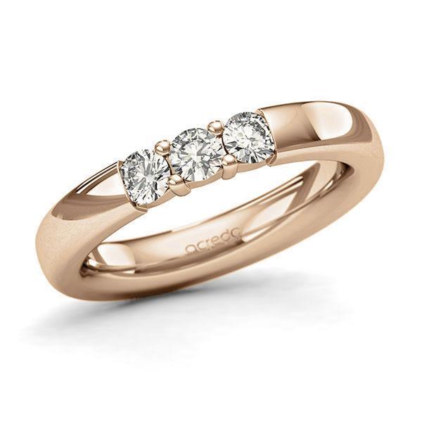 Memoire-Ring Roségold 585 mit 0,45 ct. tw, si