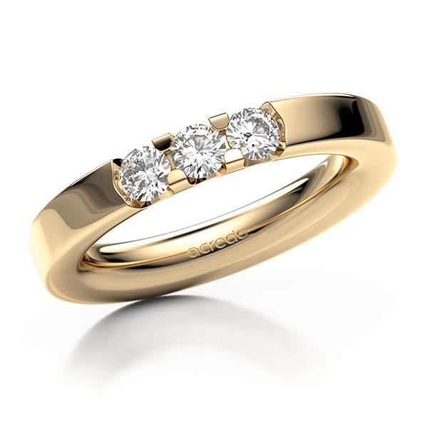 Memoire-Ring Roségold 585 mit 0,45 ct. tw, vs