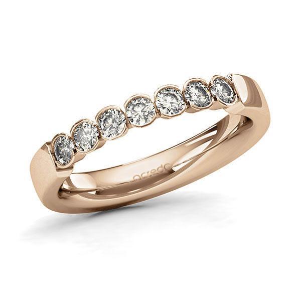 Memoire-Ring Roségold 585 mit 0,49 ct. tw, si