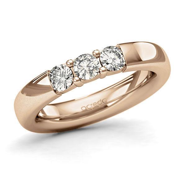 Memoire-Ring Roségold 585 mit 0,6 ct. tw, si