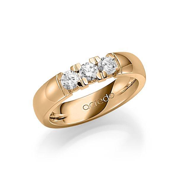 Memoire-Ring Roségold 585 mit 0,6 ct. tw, vs