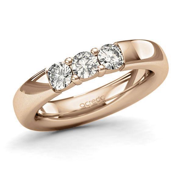 Memoire-Ring Roségold 585 mit 0,75 ct. tw, si