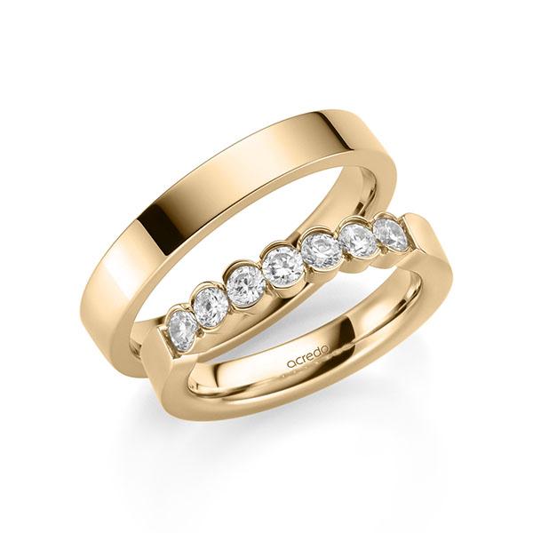 Memoire-Ring Roségold 585 mit 0,7 ct. tw, si
