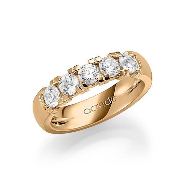 Memoire-Ring Roségold 585 mit 1,25 ct. tw, vs
