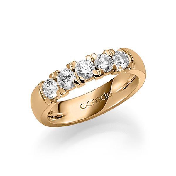 Memoire-Ring Roségold 585 mit 1 ct. tw, vs