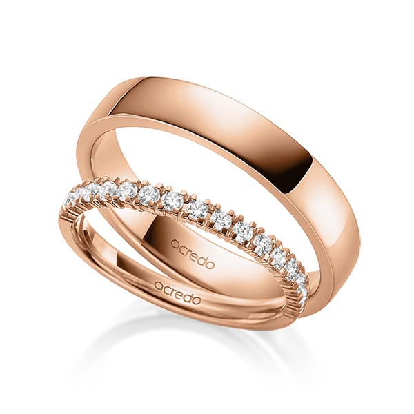 Memoire-Ring Rotgold 585