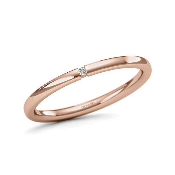 Memoire-Ring Rotgold 585 mit 0,01 ct. tw, si