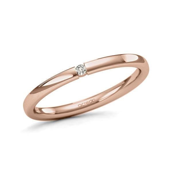 Memoire-Ring Rotgold 585 mit 0,02 ct. tw, si