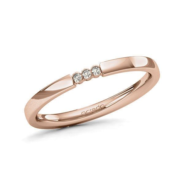 Memoire-Ring Rotgold 585 mit 0,03 ct. tw, si