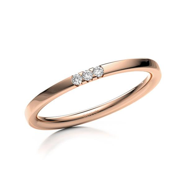 Memoire-Ring Rotgold 585 mit 0,045 ct. tw, si