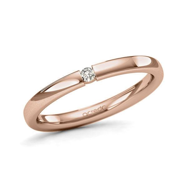 Memoire-Ring Rotgold 585 mit 0,04 ct. tw, si