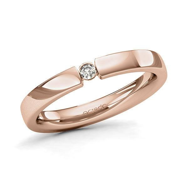 Memoire-Ring Rotgold 585 mit 0,05 ct. tw, si