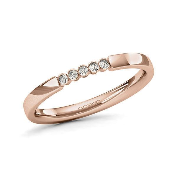 Memoire-Ring Rotgold 585 mit 0,075 ct. tw, si
