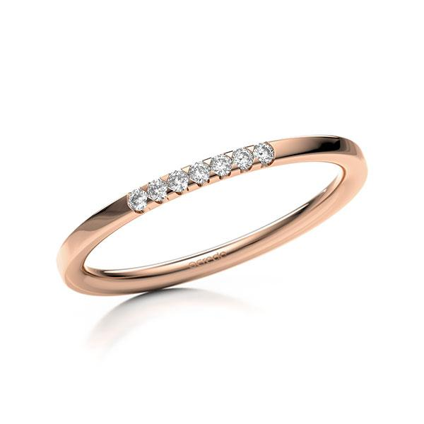 Memoire-Ring Rotgold 585 mit 0,07 ct. tw, si