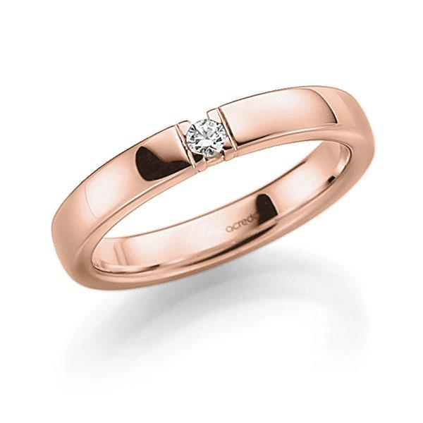 Memoire-Ring Rotgold 585 mit 0,07 ct. tw, vs