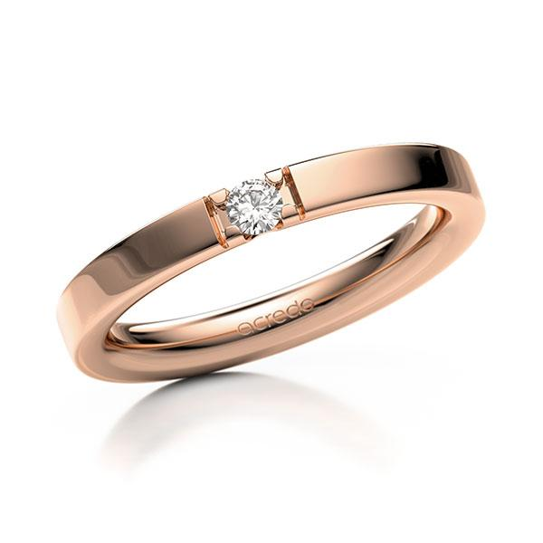 Memoire-Ring Rotgold 585 mit 0,08 ct. tw, vs