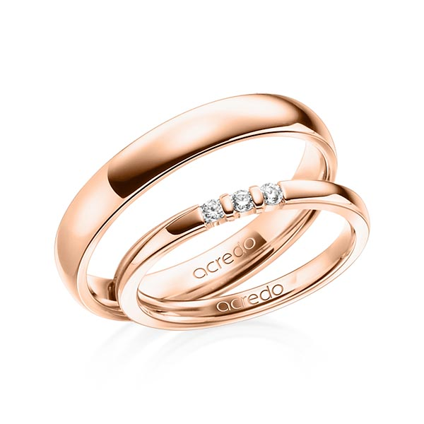 Memoire-Ring Rotgold 585 mit 0,09 ct. tw, vs