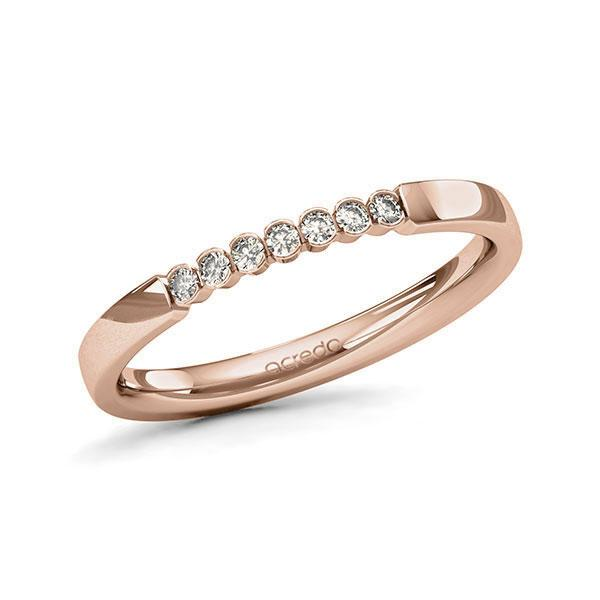 Memoire-Ring Rotgold 585 mit 0,105 ct. tw, si