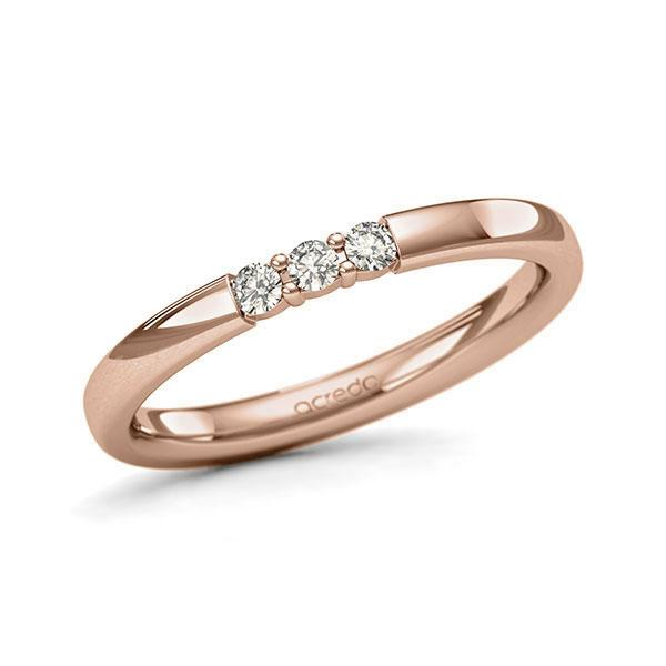 Memoire-Ring Rotgold 585 mit 0,12 ct. tw, si