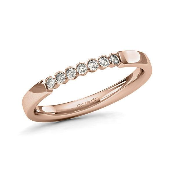 Memoire-Ring Rotgold 585 mit 0,14 ct. tw, si