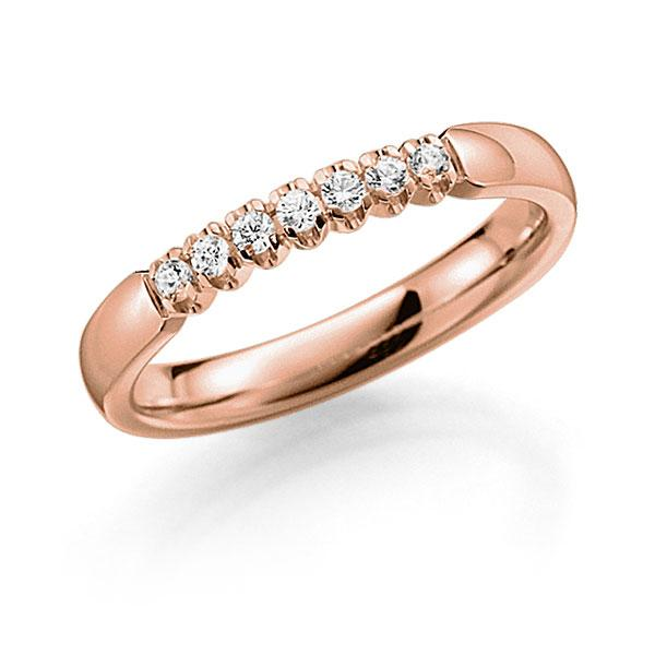 Memoire-Ring Rotgold 585 mit 0,14 ct. tw, vs