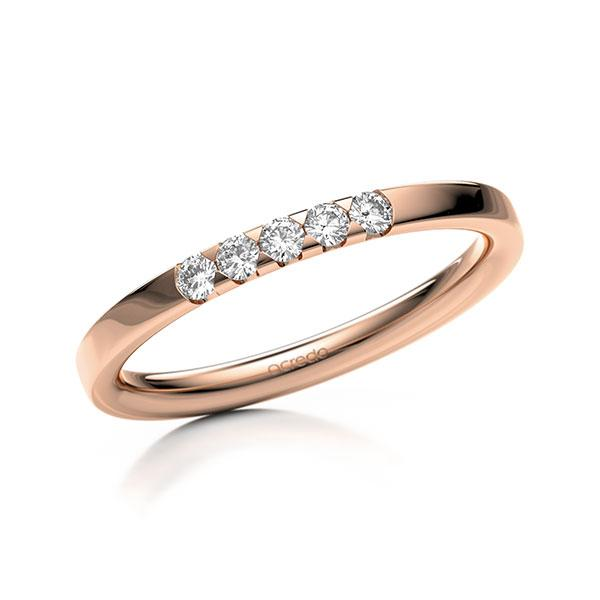Memoire-Ring Rotgold 585 mit 0,15 ct. tw, si