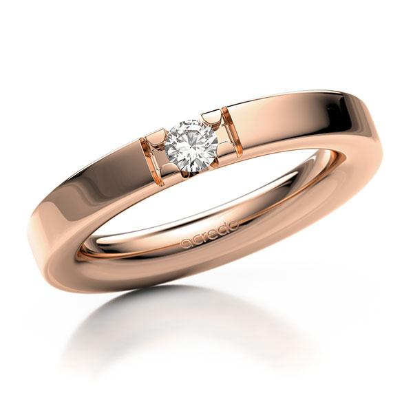 Memoire-Ring Rotgold 585 mit 0,15 ct. tw, vs