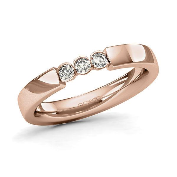 Memoire-Ring Rotgold 585 mit 0,18 ct. tw, si
