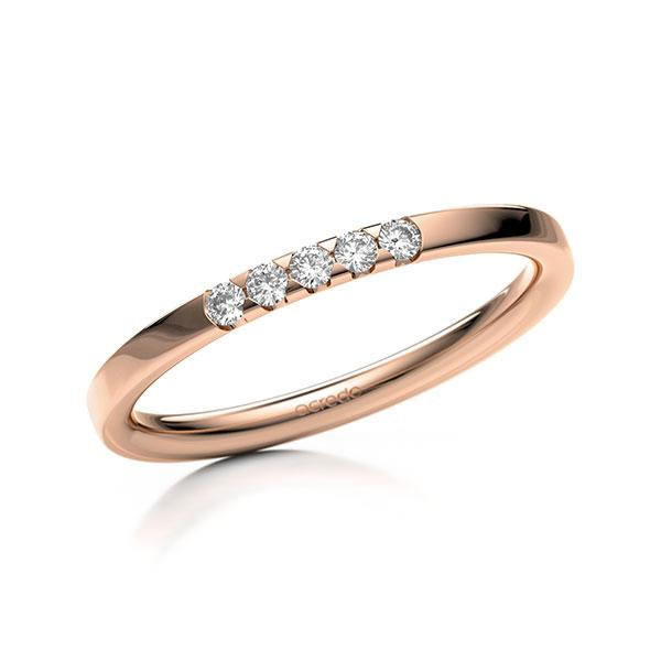 Memoire-Ring Rotgold 585 mit 0,1 ct. tw, si