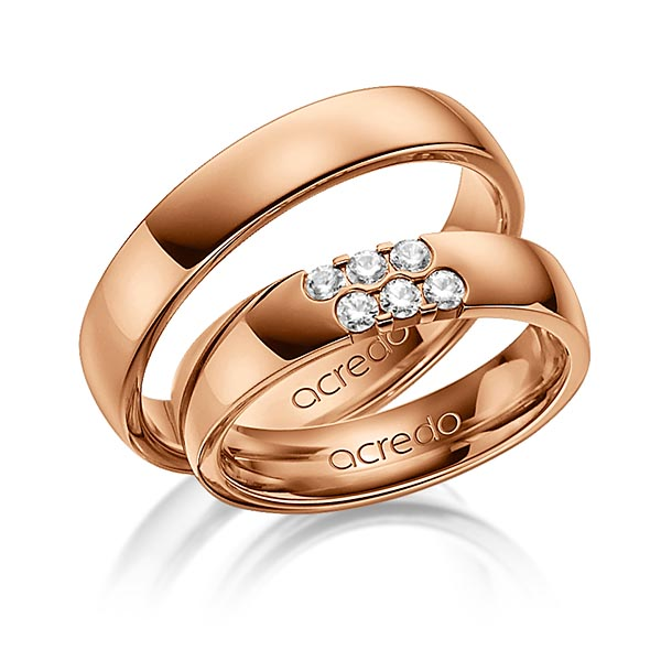 Memoire-Ring Rotgold 585 mit 0,24 ct. tw, vs