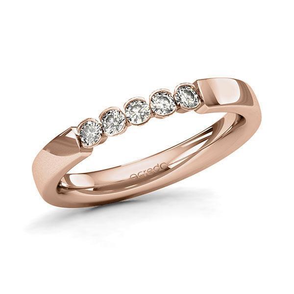 Memoire-Ring Rotgold 585 mit 0,25 ct. tw, si