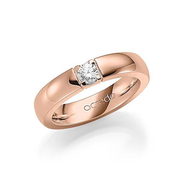 Memoire-Ring Rotgold 585 mit 0,25 ct. tw, vs