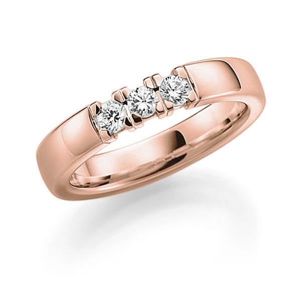 Memoire-Ring Rotgold 585 mit 0,27 ct. tw, vs