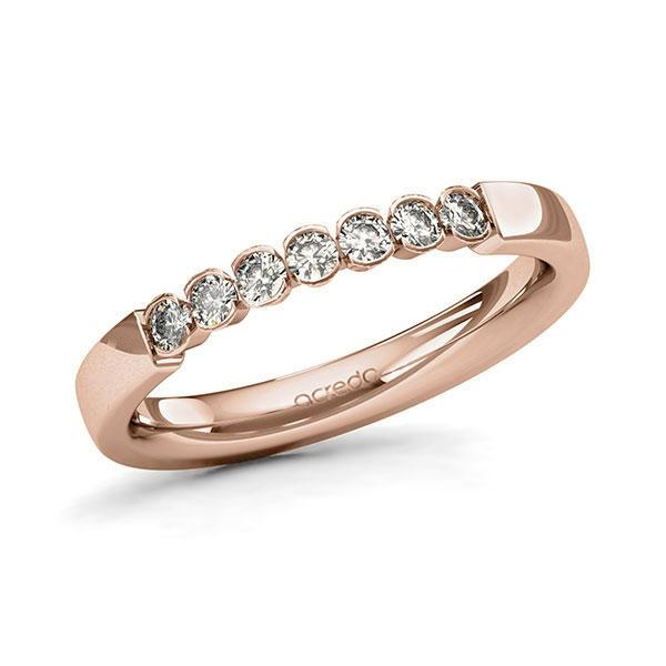 Memoire-Ring Rotgold 585 mit 0,28 ct. tw, si