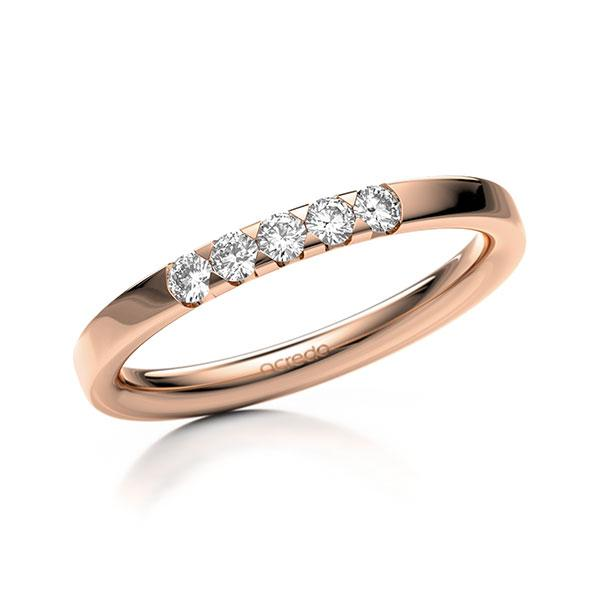 Memoire-Ring Rotgold 585 mit 0,2 ct. tw, si