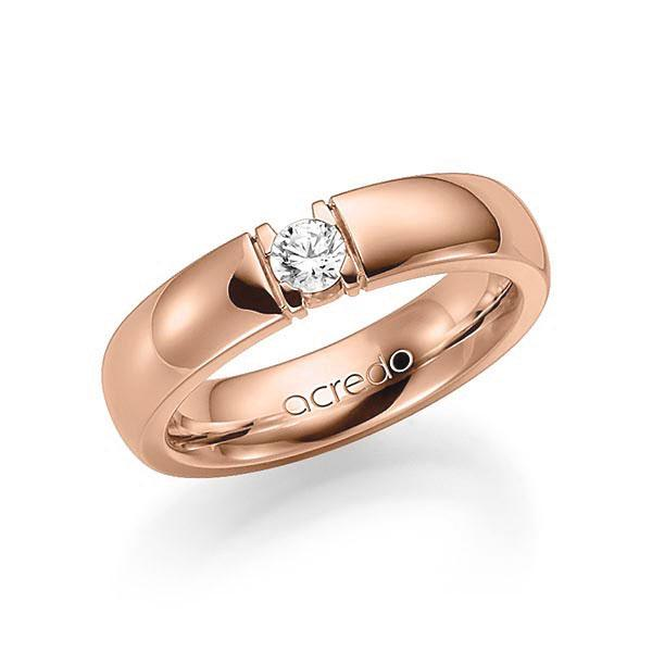 Memoire-Ring Rotgold 585 mit 0,2 ct. tw, vs
