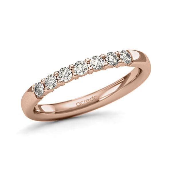 Memoire-Ring Rotgold 585 mit 0,35 ct. tw, si