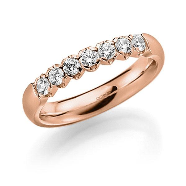 Memoire-Ring Rotgold 585 mit 0,35 ct. tw, vs