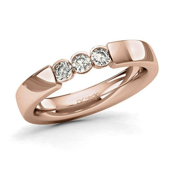 Memoire-Ring Rotgold 585 mit 0,3 ct. tw, si