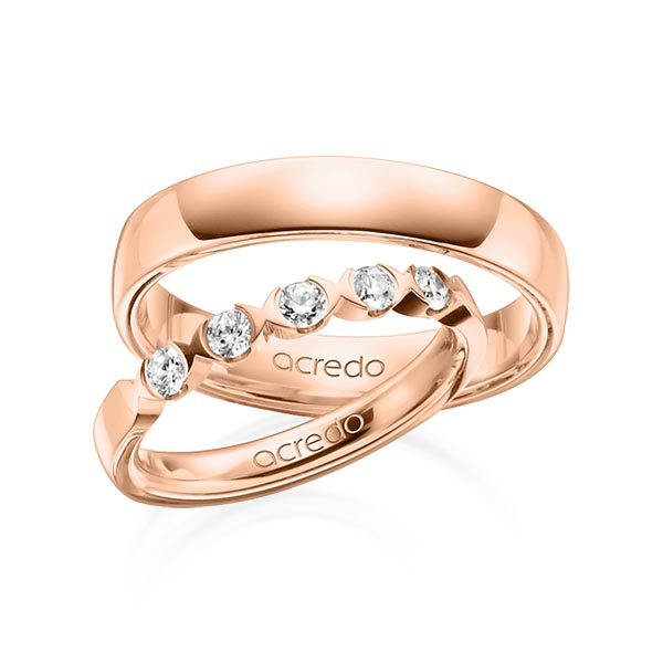 Memoire-Ring Rotgold 585 mit 0,3 ct. tw, vs