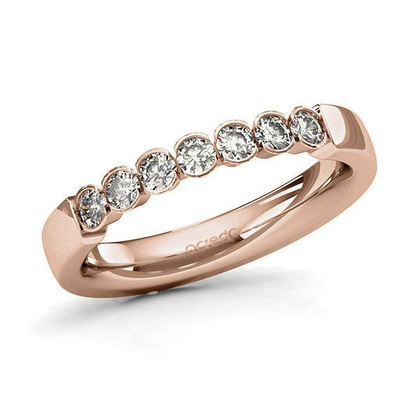 Memoire-Ring Rotgold 585 mit 0,42 ct. tw, si