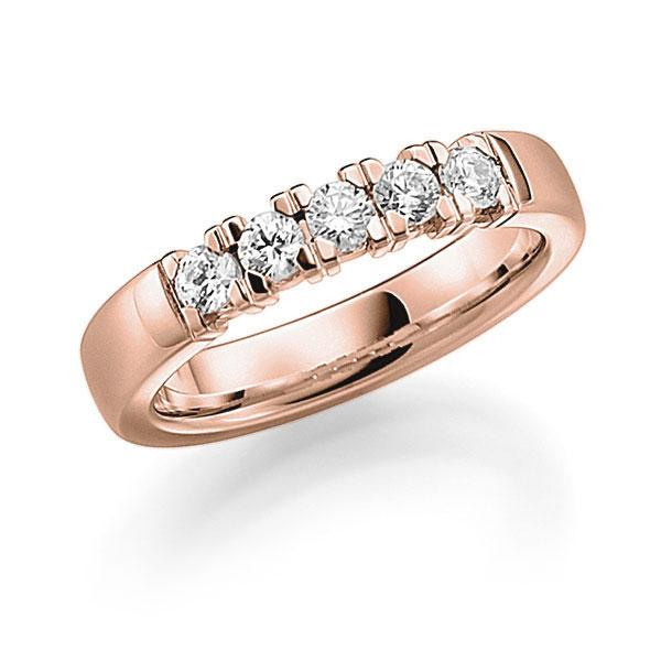 Memoire-Ring Rotgold 585 mit 0,45 ct. tw, vs