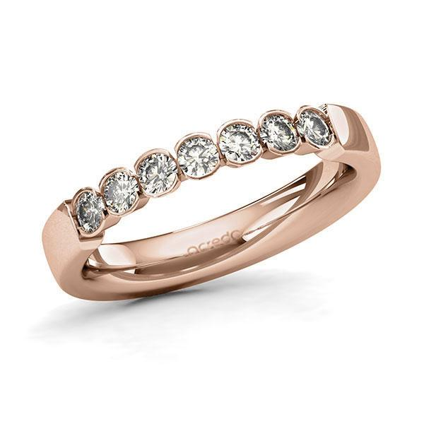 Memoire-Ring Rotgold 585 mit 0,49 ct. tw, si